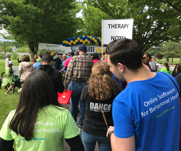 TherapyNotes at NAMIWalks 2017